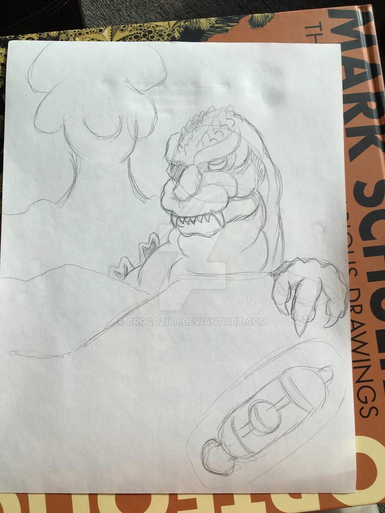 Godzilla pic WIP by Crocazill