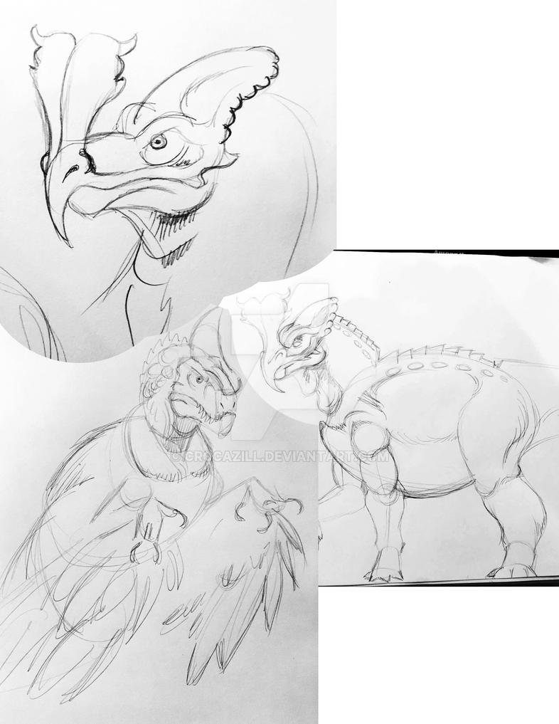 Rarraku dinosaurs by Crocazill
