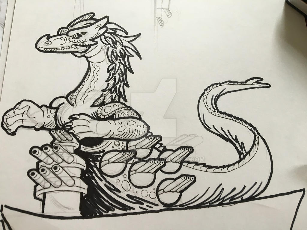 Dragon Battleship 3 by Crocazill