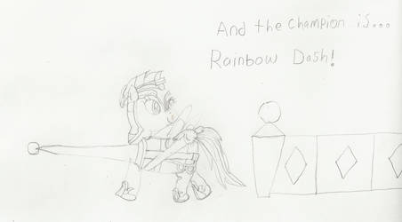 NATG 5 Day 6: Joust Champion Rainbow Dash