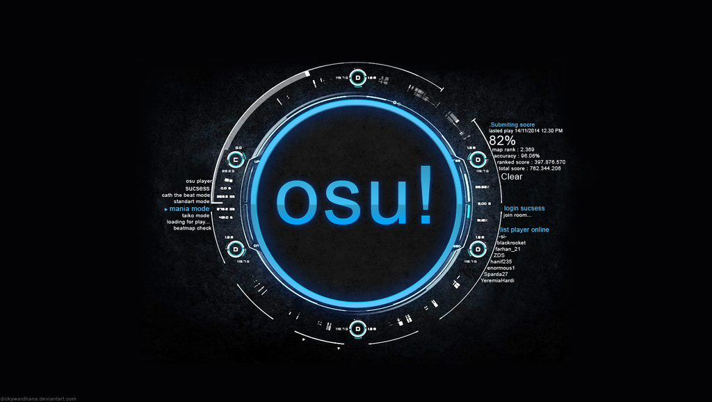 Osu Wallpaper by dickywardhana on DeviantArt: dickywardhana.deviantart.com/art/Osu-Wallpaper-465971723