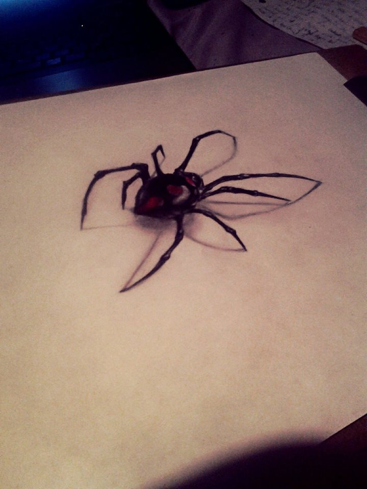 black widow spider by vincinero