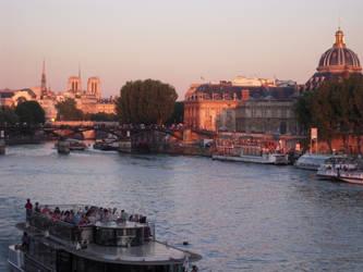 Seine Sunset by Cort-Ellyn