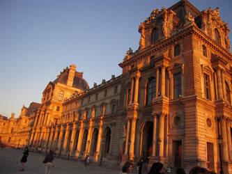 Louvre Sunset 2 by Cort-Ellyn