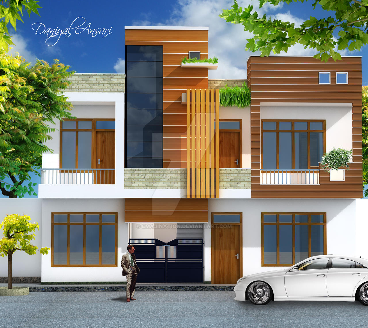 Dream Home Front View By Emajination On DeviantArt