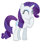 Snickering Rarity is snickering...