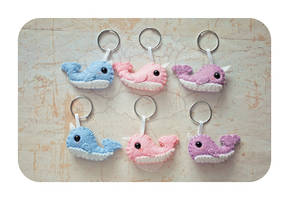 Minis Set Narwhals (ONLY 2 LEFT) by ShadowedPorcelain