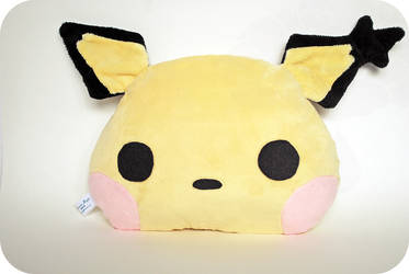 Spikey Eared Pichu Pillow by ShadowedPorcelain
