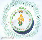 Animal Crossing Isabelle in a Kimono by ShadowedPorcelain