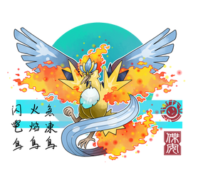 Pokemon Fusion Drawing : Legendary Birds