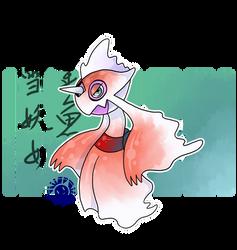 Pokemon Fusion Drawing: Froslass + Goldeen