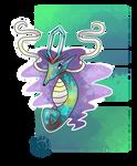 Pokemon Fusion Drawing: Suicune + Kingdra
