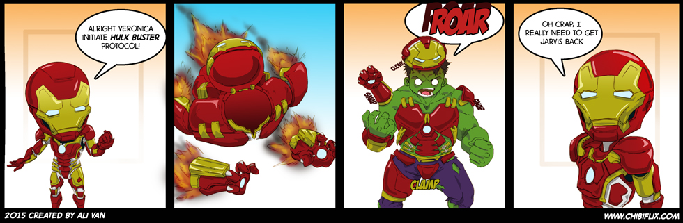 Iron Mans Hulk Buster malfunction by ChibiFlix