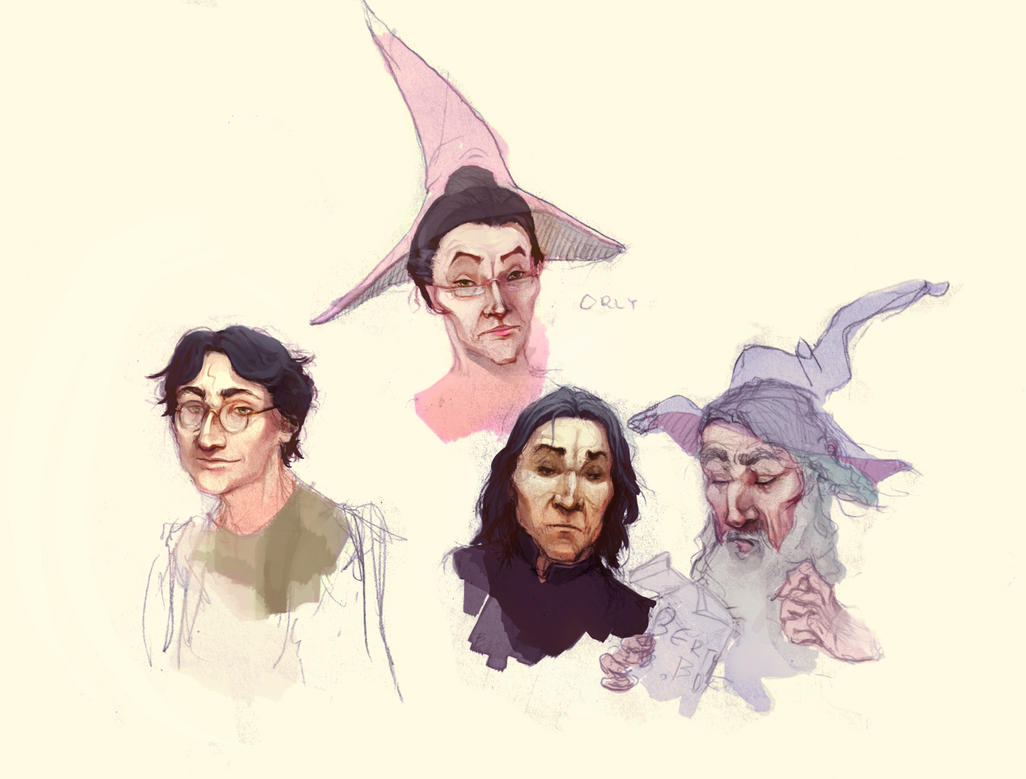 Hogwarts faces by Baishare