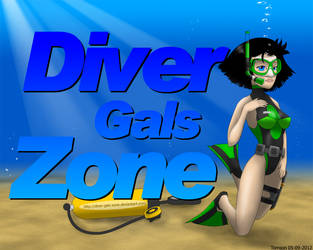 Diver-Gals-Zone Poster by UWfan-Tomson