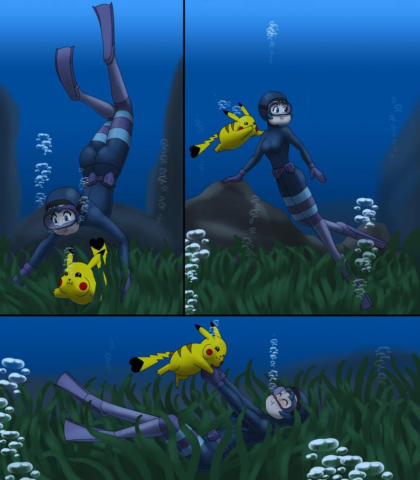 Poke Diver by UWfan-Tomson