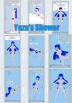 Yuzu's Shower-comic on Patreon by UWfan-Tomson