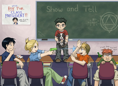 class  room fight by littledevil10
