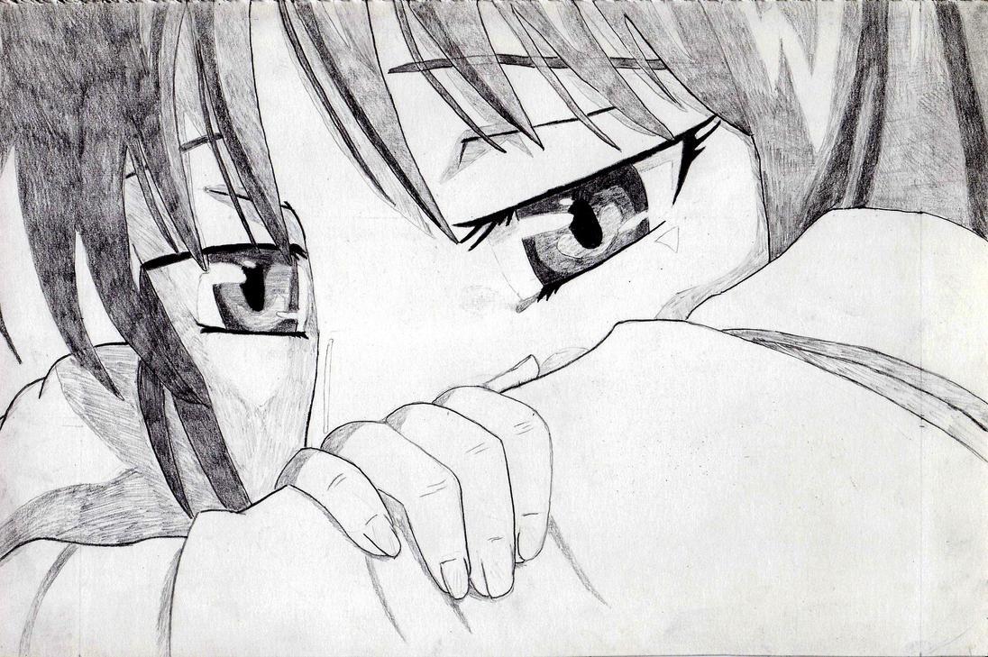 انمي حزين كارتون حزينة anime