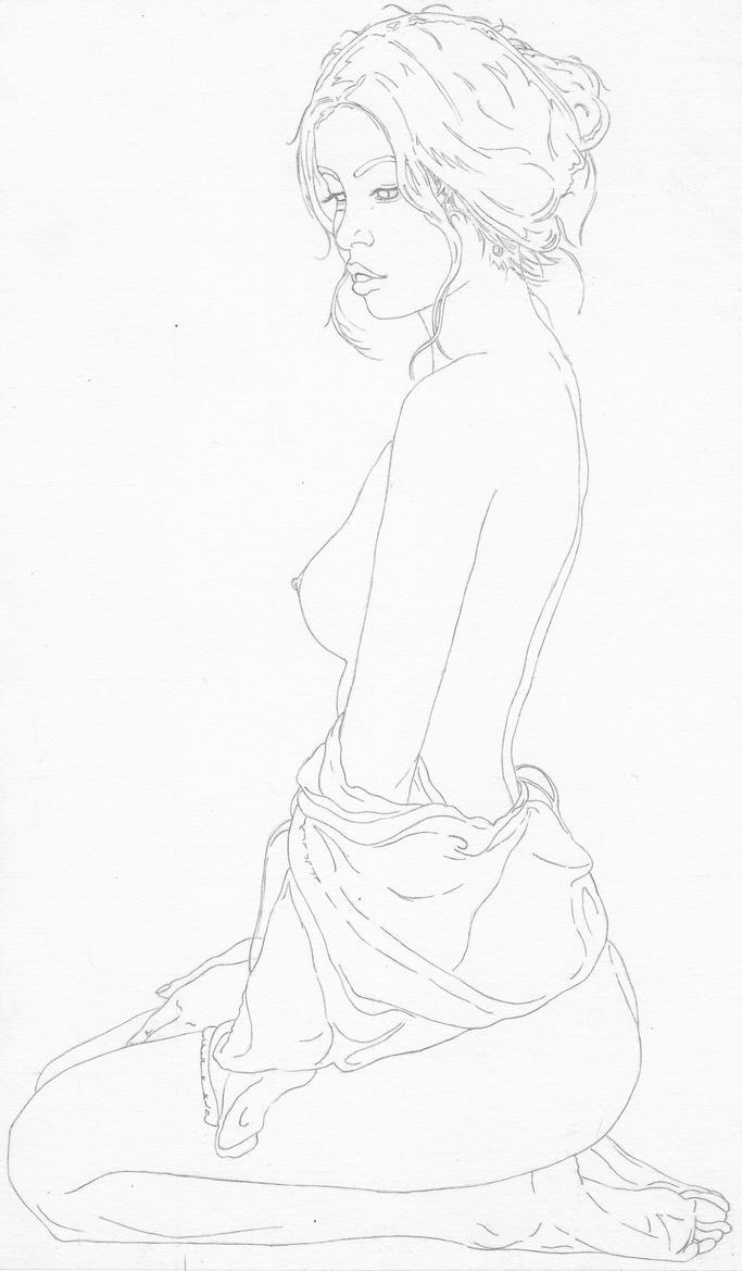 Nude Figure Line Art 2 by rediceRyan2