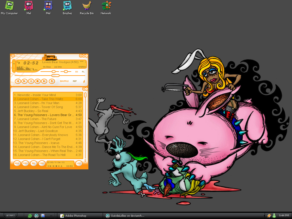 My pretty desktop by SuicideLollies