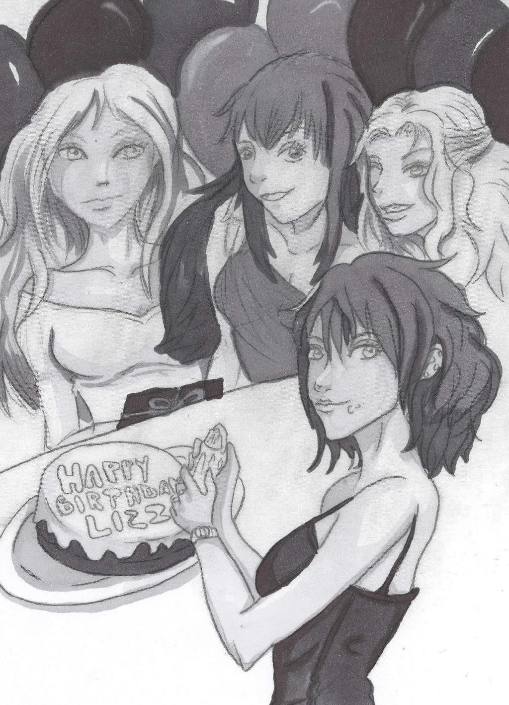 Happy Birthday Lizzie by tinta-estudio