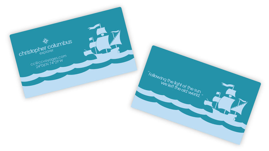 moo.com Christopher Columbus Business Card by vegamaris