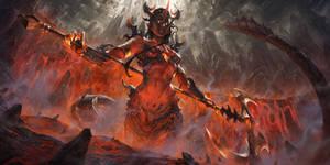 Volcano Guardian Siren - Splash art illustration