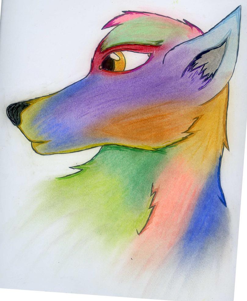 Rainbow Wolf By SoulReaper53 On DeviantArt