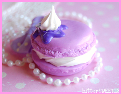 Sweet French Macaroon Necklace by bitterSWEETones