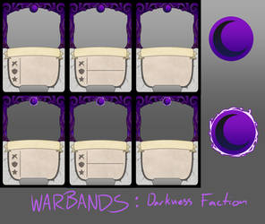Warbands TCG: Darkness Card Templates