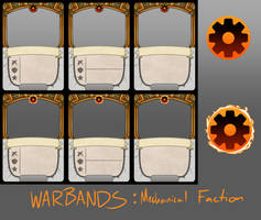 Warbands TCG: Mechanical Card Templates
