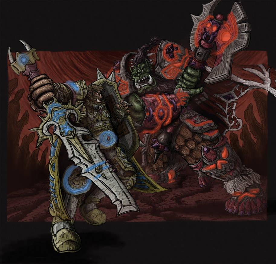 Warcraft Orcs Vs Human By Mattrillustration On Deviantart