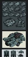 Artillery Vehicle --Concept-- by MattRIllustration