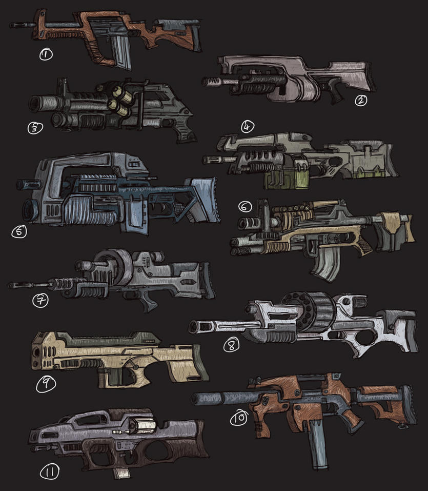 Guns... Lots of Guns. by MattRIllustration