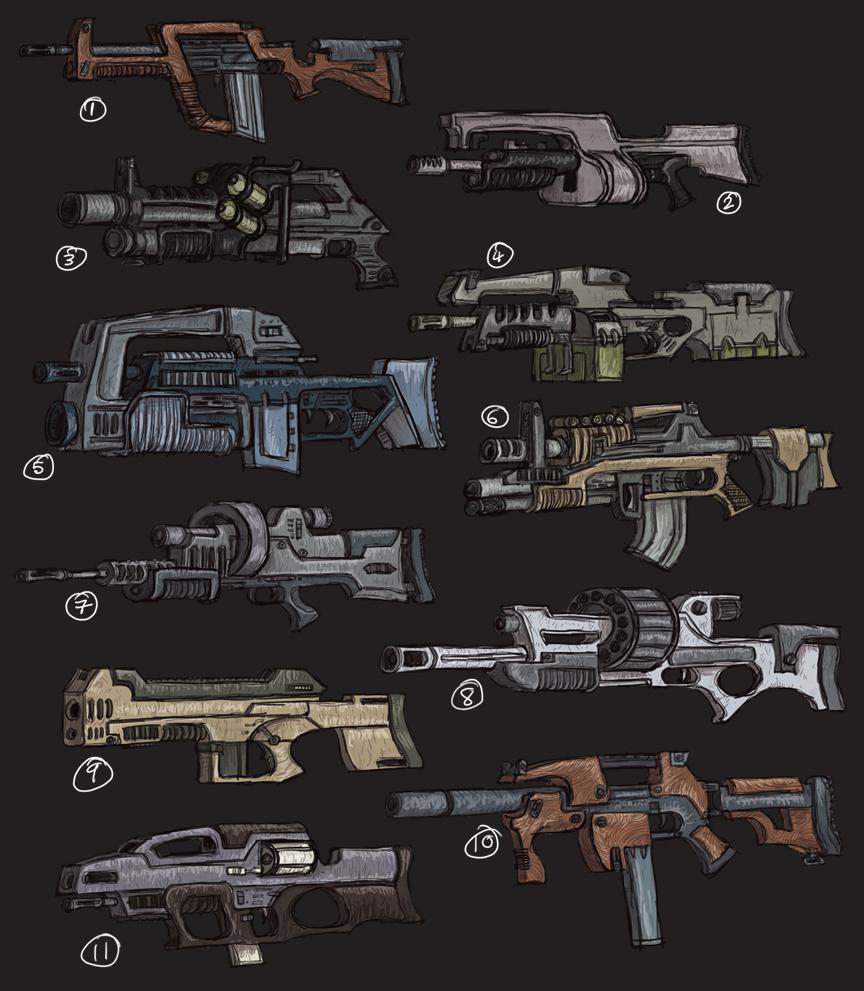 Guns... Lots of Guns. by MattRIllustration