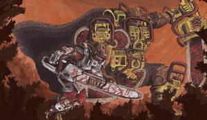 Chainsaw Wars by MattRIllustration
