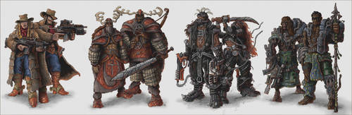 Alien Earth Tribal Characters