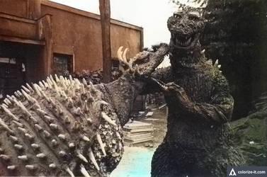Godzilla Raids Again (Colorized)
