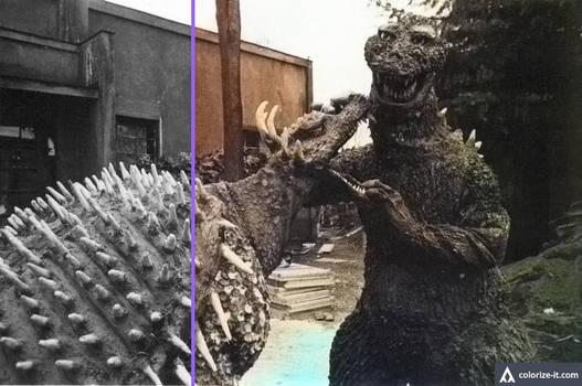 Colorize-compare Godzilla Vs Anguirus