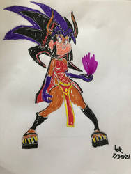 MY OC Ishiro Eiji Tanaka Full Body Color Render.