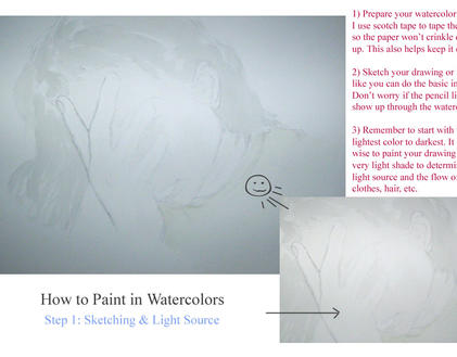How to Paint in Watercolors 1 by vanmaniac