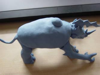 Random Clay Model Idea - Beetlightnoceros 03 by toonstarfreak