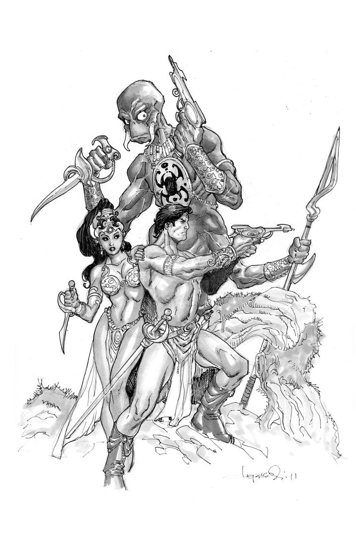 John Carter, Deja and Tars. by aaronlopresti