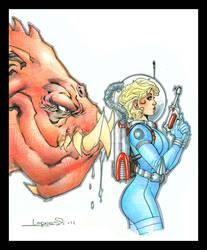 2011 Sketchbook Cover by aaronlopresti