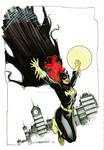 Batgirl Marker Sketch