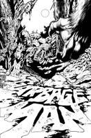 Garbage Man #4 (Weird Worlds #4) interior cover by aaronlopresti