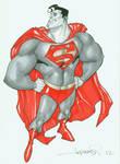 Stylized Superman by aaronlopresti