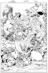 Sword of Sorcery (Amethyst) #1 Cover by aaronlopresti