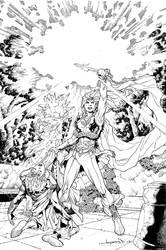 Sword of Sorcery (Amethyst) #2 Cover by aaronlopresti